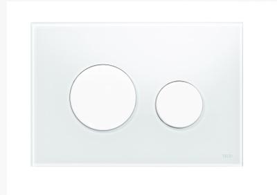 Tece Tec Eloop Betjeningsplate. Hvitt Glass/Hvite Knapper