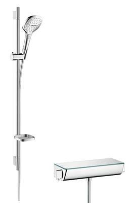 90cm HG Raindance Select E120 Ecostat sett krom