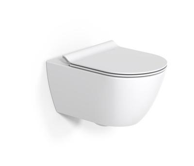 GSI Pura toalett, m/ sete og åpen skyllekant