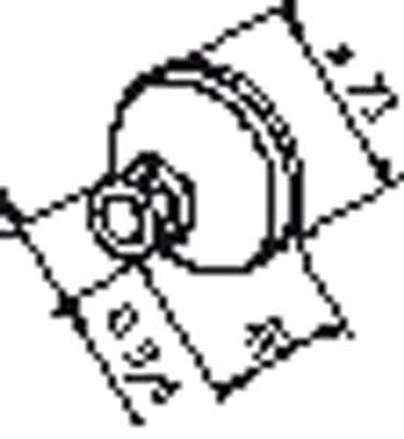 """Mont.kpl. /f/dusjkran 3/4"""" X 12 mm"""