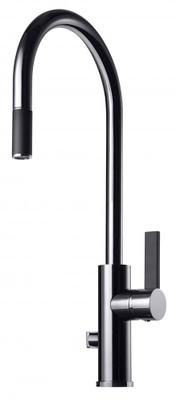 Tapwell ARM885 Krom/Sort Kjøkkenbatteri m. uttrekk og avst.