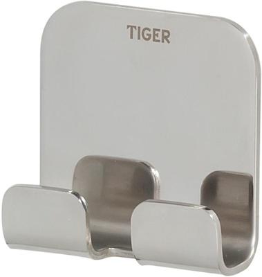 Tiger Colar krom rustfritt stål Colar dobbel krok