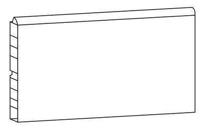 Alterna 197x15x1,5 Sokkel 197 cm hvit Kan kappes og tilpasses