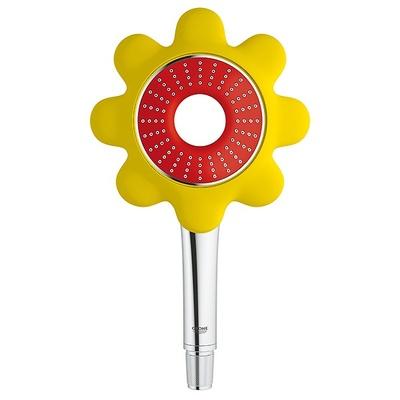 Flower hånddusj, gul/rød