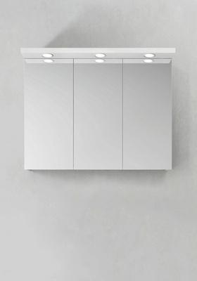 Hafa Speilskap Store Ledspots Hvit 900