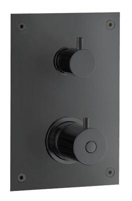 Tapwell BOX268 Matt Sort trykk + termostatstyrt batt. 2 veis vender