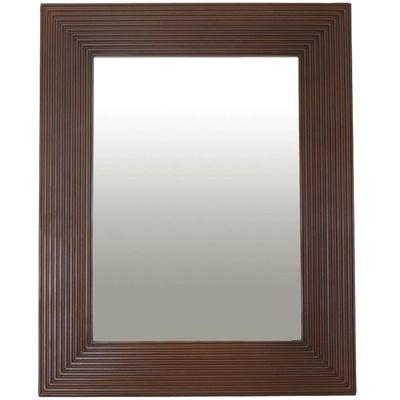 Speil med ramme i Valnøtt finish