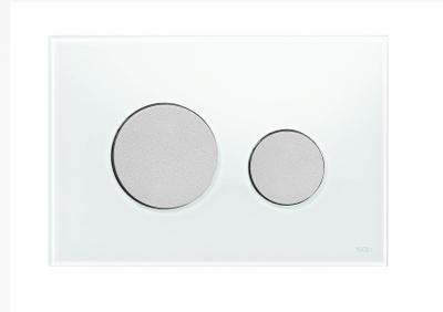Tece Tec Eloop Betjeningsplate. Hvitt Glass/Knapper I Matt Krom