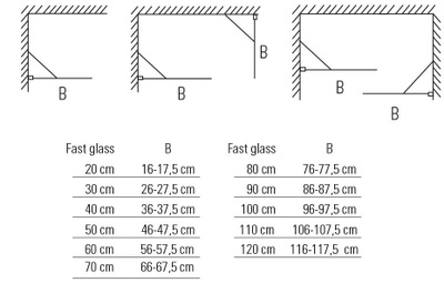 Glassfelt, rett 70x193