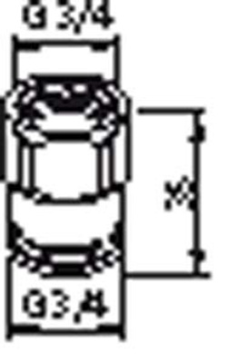 "Forlegelsesstykke 3/4"" X 3/4"" L = 30 mm"