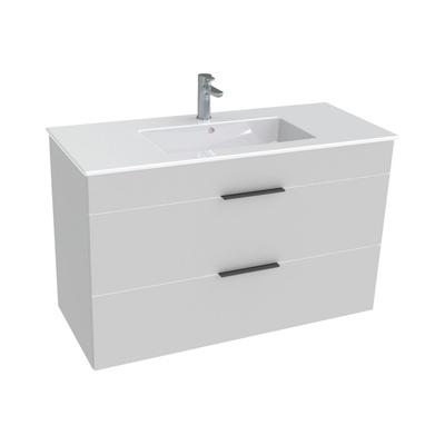 Laufen Jika Cube 100x43cm Baderomsmøbel inkludert porselensservant og 2 skuffer