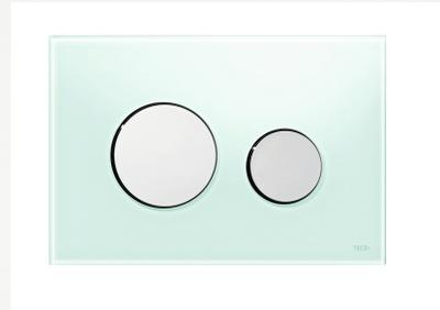 Tece TECEloopbetjeningsplate.grøntglass/knapperforkrommet