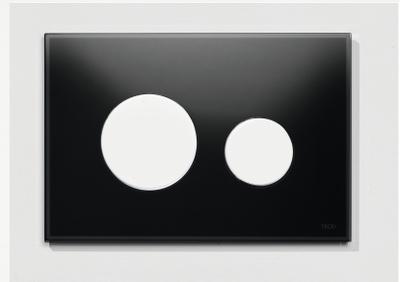 Tece Tec Eloop Betjeningsplate. Svart Glass/Hvite Knapper
