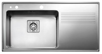 Intra Frame Kjøkkenvask FR97SXR, med enkel kum Nedfellingsmodell. Kum høyre.