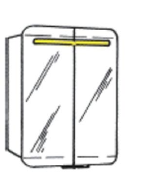 White Speilskap, med høyttaler, 60 x 75 x 16 cm