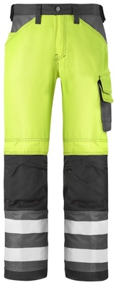 Snickers 3333 High Vis Bukse, Klasse 2