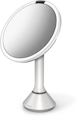 Simplehuman Simplehuman Sensorspeil M Berøringskontroll, 20cm, Hvit Stål, Oppladbart   5x Forstørrelse