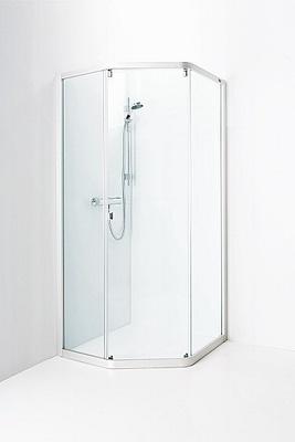 Porsgrund Showerama 8-3 Dusjhjørne 900x900 mm, børstet klar