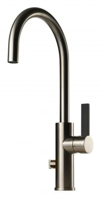 Tapwell ARM184 Brushed Nickel/Sort Kjøkkenbatteri