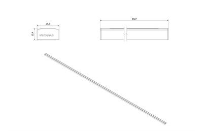 VikingBad LIAM Magnetprofil Vegg (Fast) Sort matt profil, 193cm