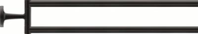 Duravit Starck T 50x465mm Håndkleholder med 2 svingbare armer, Svart matt