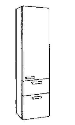 White Høyskap, 160 x 40 x 35 cm