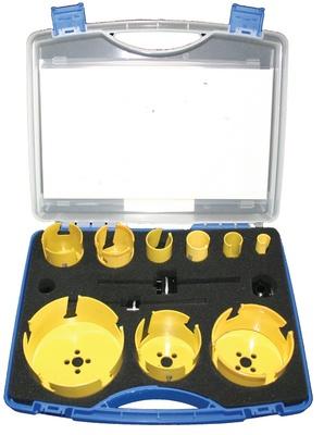 19-114mm  Hullsagsett VVS Pro-Fit m/11 deler 9 hullsager, 2 HSS bor