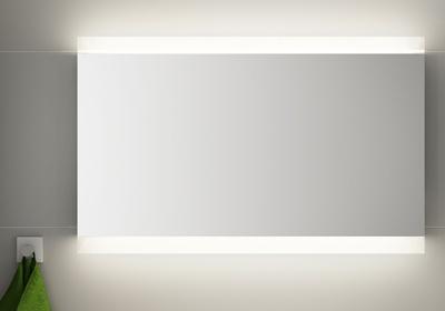 LinnBad Vik Speil M/Innfelt Lys Oppe/Nede Og Stikk 120 Cm