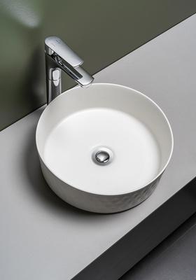 Hafa Håndvask Circle Facett Hvit Matt