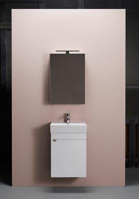 Hafa Go 450 kompl m speilskap hvit,  Servant og speilskap er inkludert