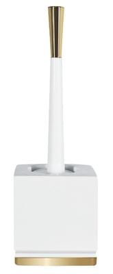 Spirella Roma Toalettbørste hvit/gull