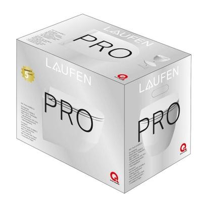 Laufen Pro Veggskål, Kompakt Modell, Med Sete Sc, Skjult Feste, Pakke