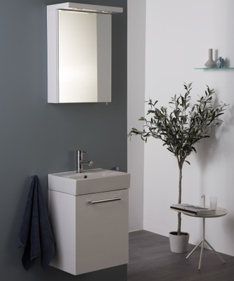 Alterna Quadro 50x43,8x29,8 Møbelpakke 3i1 hvit matt