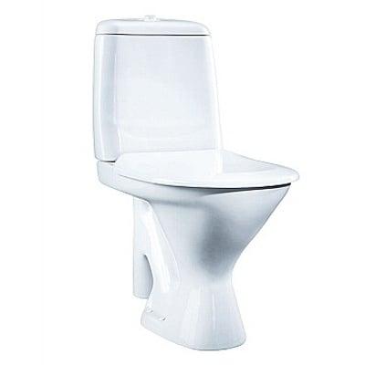 Toalett, åpen S-lås, enkelspyling