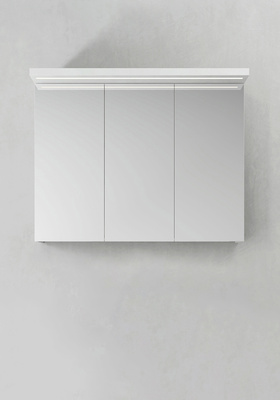 Hafa Speilskap Store Ledprofil Hvit 900