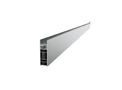VikingBad VB LIAM utfellingsprofil fast glass +25mm (H:193 cm), sølv