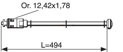 SPINDEL f/selvdr. utekran L: 494