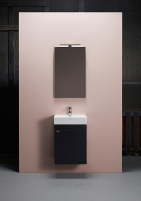 Hafa Go 450 kompl m speilskap svart, Servant og speilskap er inkludert