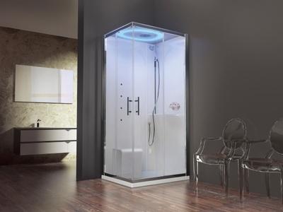 Eon dusjkabinett standard hvit soft klart glass høyre 100x80