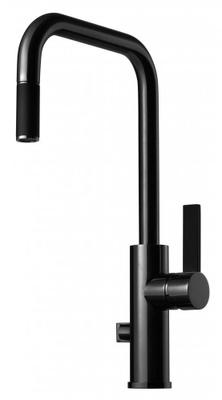 Tapwell ARM887 Black Chrome/Sort Kjøkkenbatteri m. uttrekk og avst.