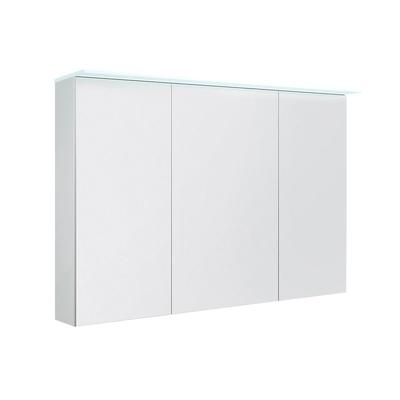 Speilskap dbl 120 med lystopp, IP44 hvit høyglans