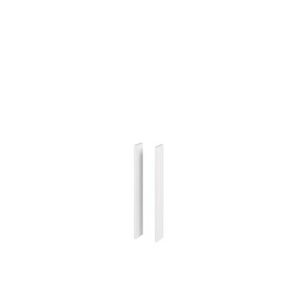 Alterna NewDay Sidepanel for speilskap, hvit høyglans