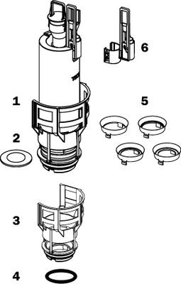 Tece Utløpsventil A2. Med Ventilsete Og Reduseringssett