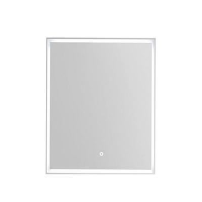 Rammespeil 60 med omsluttende LED-lys, IP44, hvit ramme