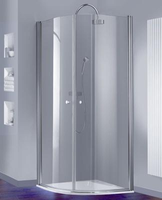 Alterna Hüppe 501 design Buet dusjvegg, 80 cm