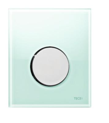 Tece TECEloop urinal betjeningsplate, mintgrønt glass/knapp forkrommet