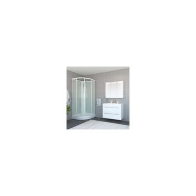Roma dusjkabinett 90x90x190 Basic, Hvit/hvitt