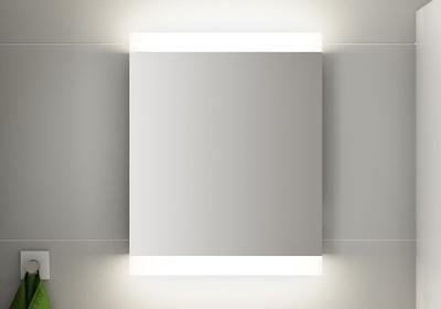 LinnBad Vik Speil M/Innfelt Lys Oppe/Nede Og Stikk 60 Cm