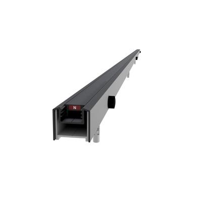 Magnetprofil Vegg (Justerbar) Sort matt profil, 193cm