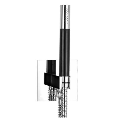 Tapwell Box Square BOX 300/300 Square hånddusj m. vegggjennomføring og gaffel, krom